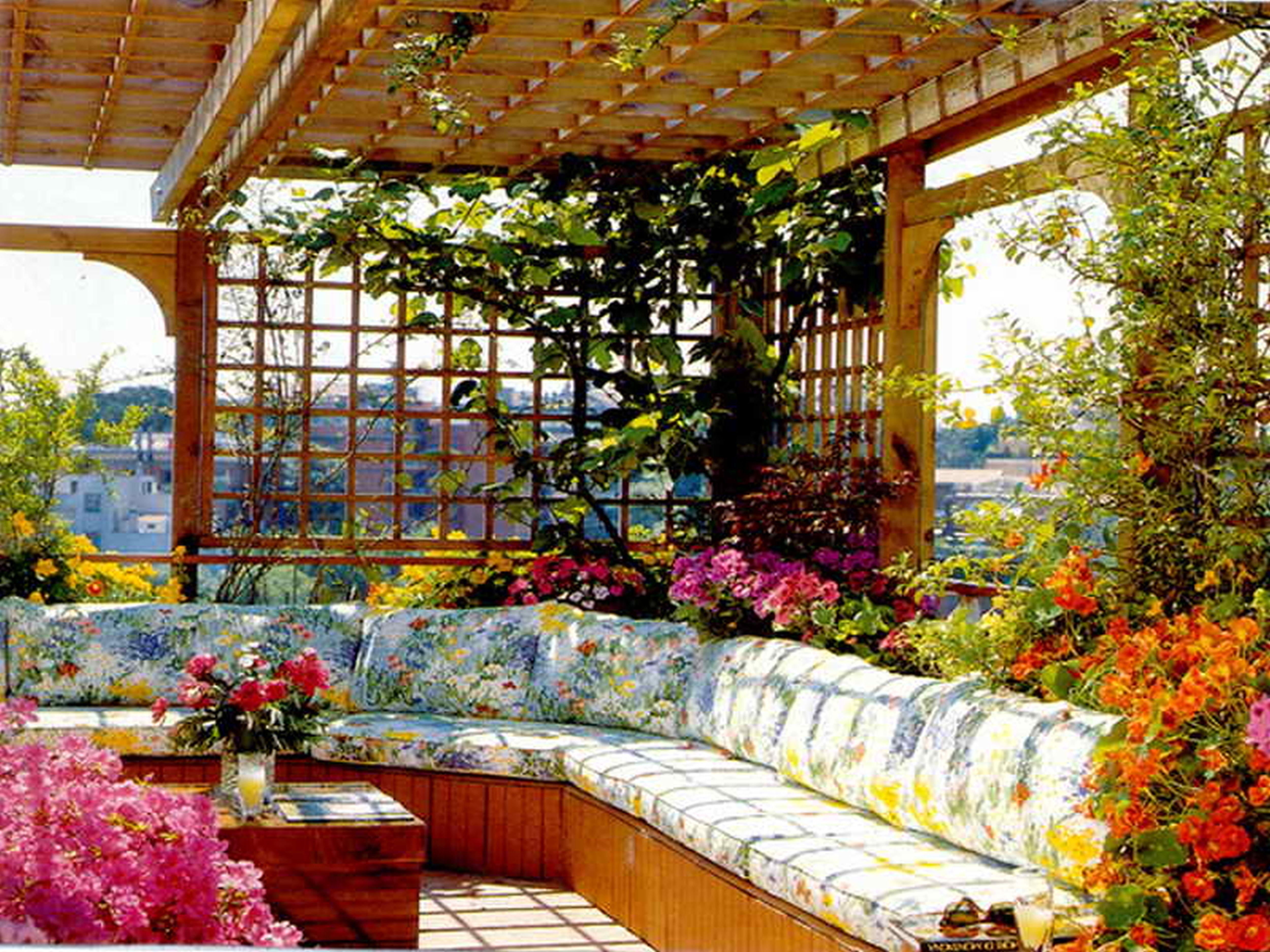 Rooftop Flower Garden Design Ideas Mediterranean Style | 1836 .