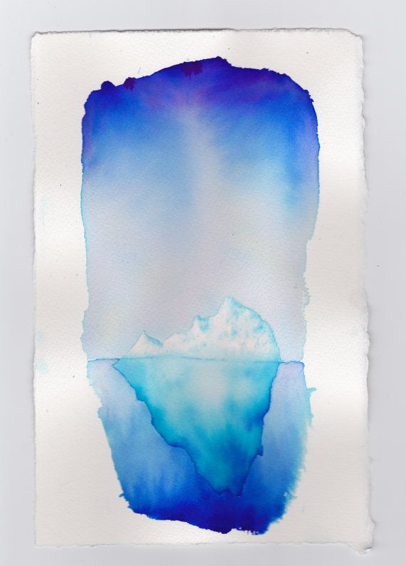 Iceberg Watercolor Painting By Mikeboston On Etsy Watercolor