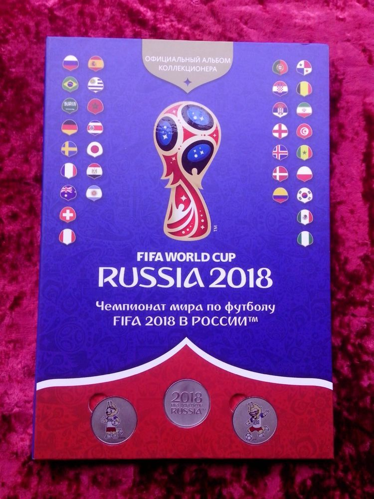 The Official Album Of The Fifa World Cup 2018 Russia 46 Medals Copper Nickel Ebay