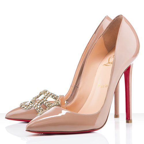 Christian Louboutin Sex 120mm Patent Leather Pumps Nude