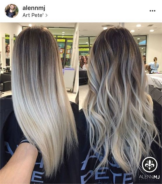 4 Blonde Blond Straight Hair Sweep Blonde Balayage