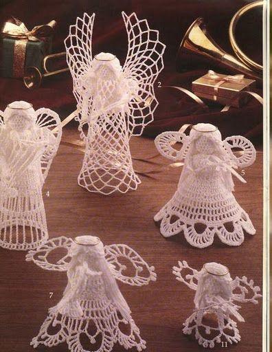 Passione Uncinetto Schemi Angeli игрушки Crochet Angels