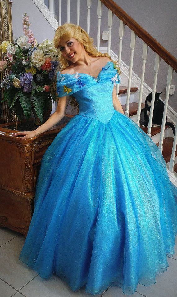 Cinderella Adult Costume. 2015 movie dress Fairytale