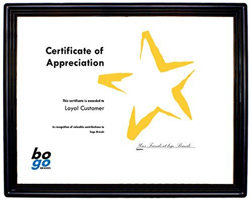 85 x 11 inch plastic document frame with plastic face economy frames by bogo brands 1 - Document Frames 85 X 11