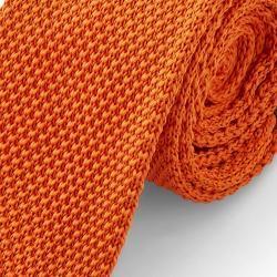 Photo of Orangefarbene StrickkrawatteTrendhim.de