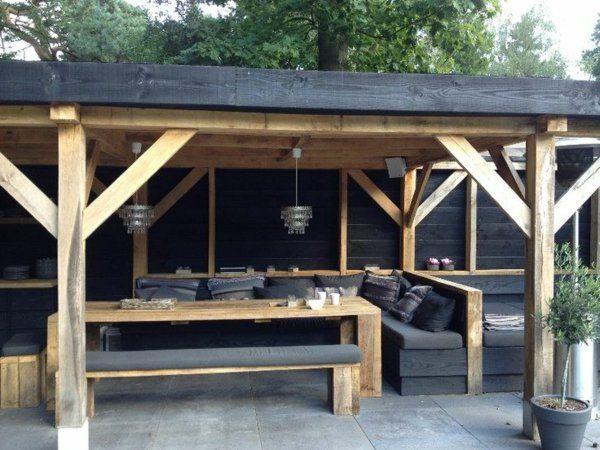 Loungemöbel balkon selber bauen  holzpergola selber bauen lounge möbel | DIY Gartenideen ...