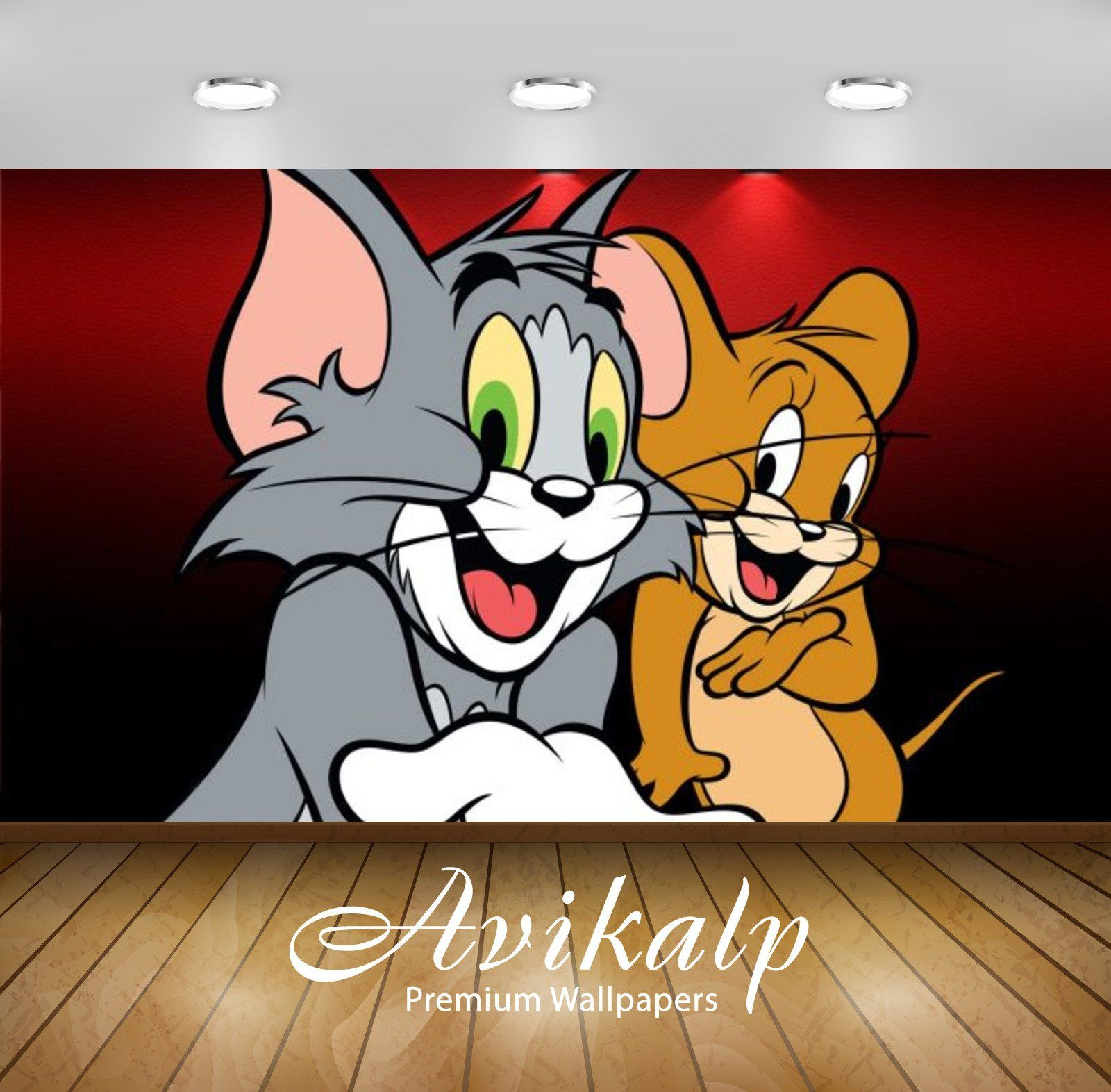 Avikalp Exclusive Awi2259 Tom And Jerry Full Hd Wallpapers For Living Room Hall Kids Room Kitchen In 2020 3d Wallpaper Cartoon Full Hd Wallpaper Kids Room Wallpaper
