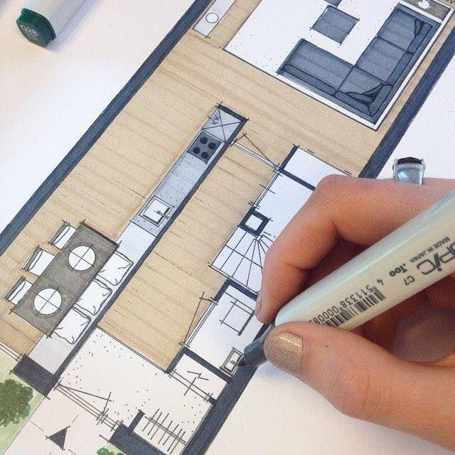 Épinglé par Marielle Sorre sur cuisine Dessin architecture, Dessin