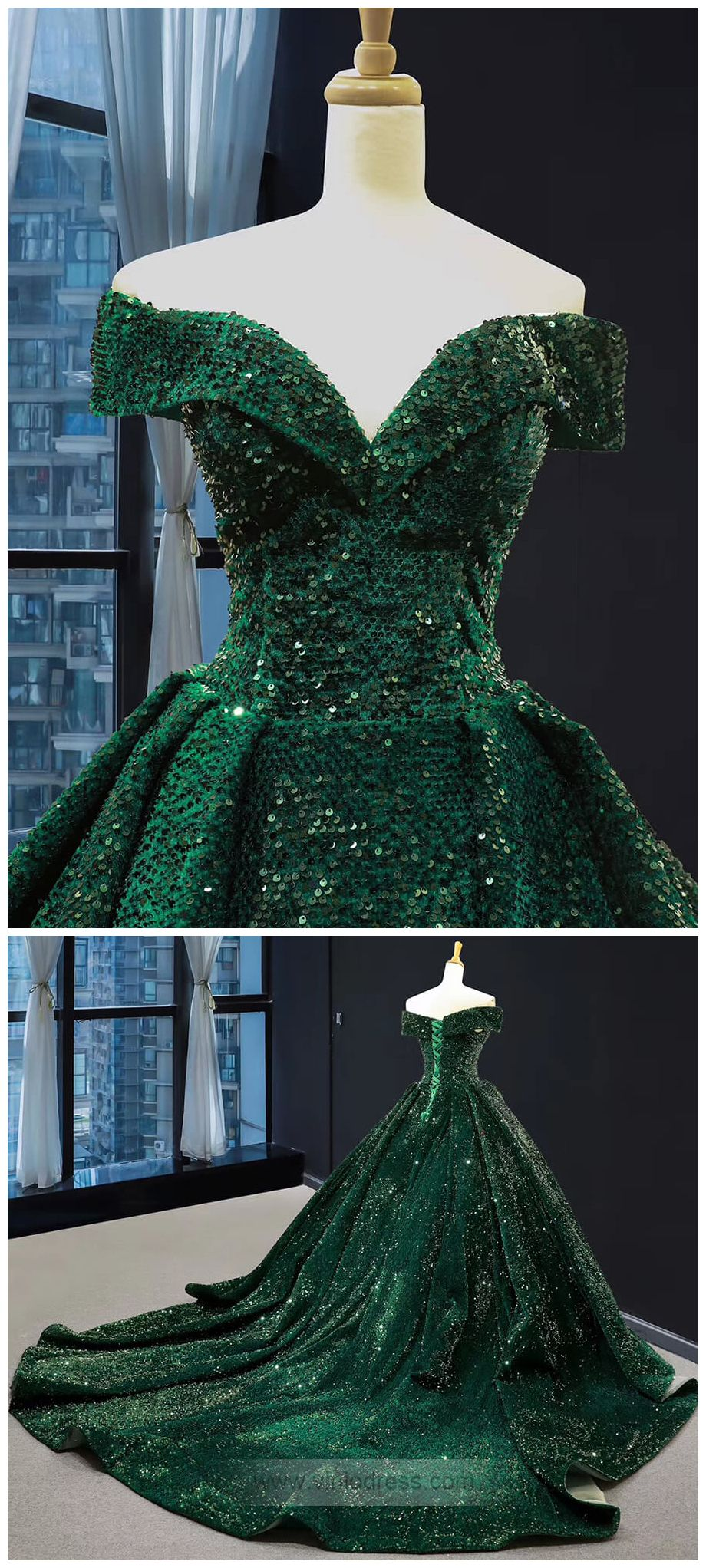 Off The Shoulder Green Prom Dresses Plus Size Vintage Ball Gowns Fd1304 Ball Gowns Green Prom Dress Vintage Ball Gowns [ 2044 x 920 Pixel ]