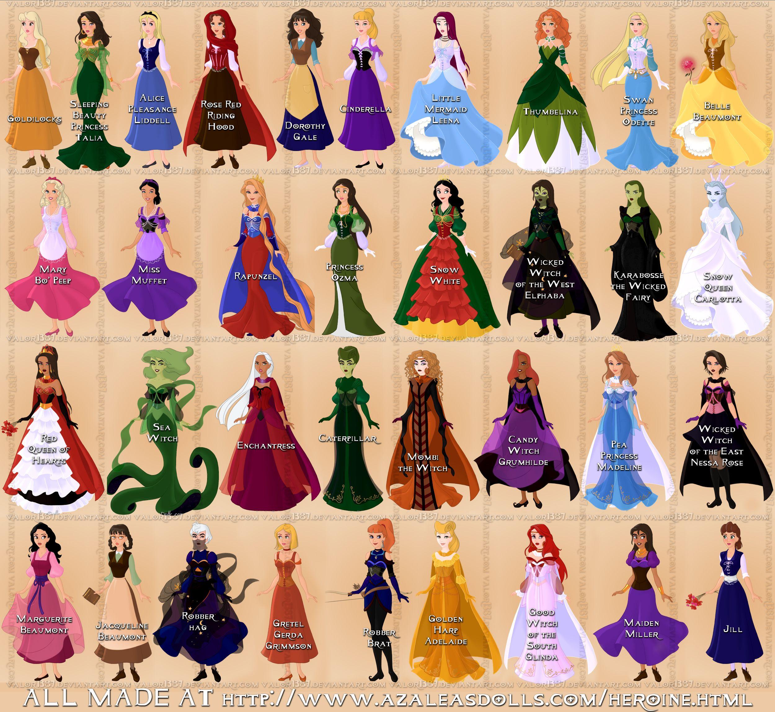 My fairy tale designs Disney-fied by Valor1387 deviantart