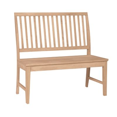 The Whitewood Mission Bench Gives Extra Dining Seating Mission Bench Unfinished Furniture Furniture