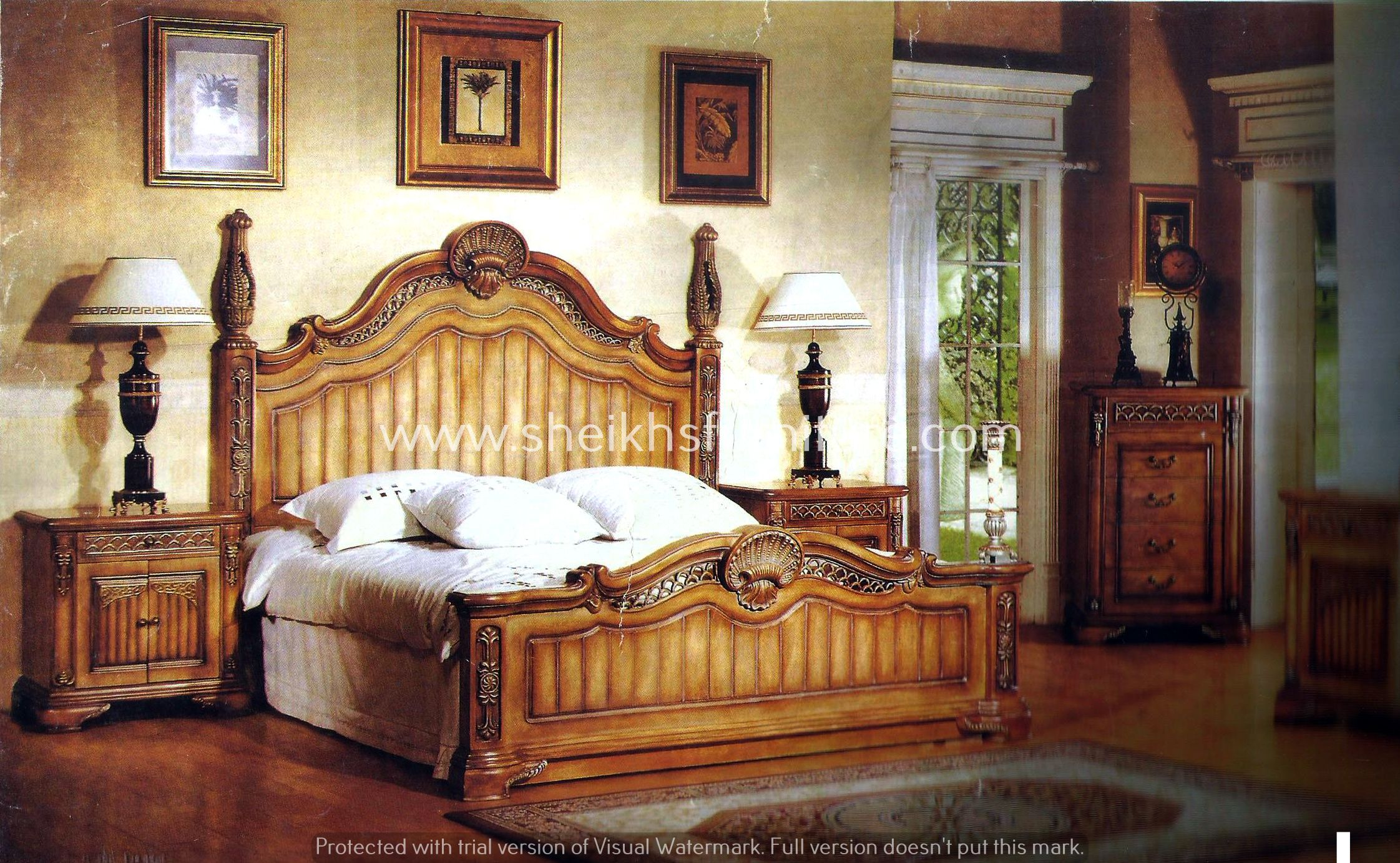 This Is Our Solid Rosewood Bed This Bedroom Set Is Made In Pure Rosewood Sheesham Made In Chiniot Pakistan Thi Wood Sleigh Bed How To Make Bed Bedroom Set