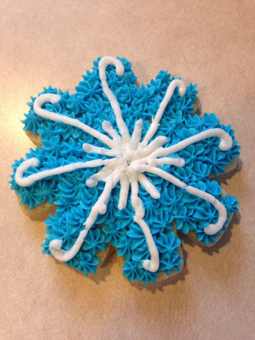Snowflake sugar cookie.