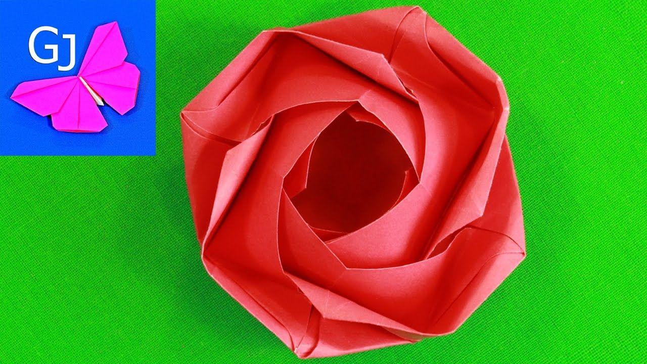 Модуль оригами роза красная фото