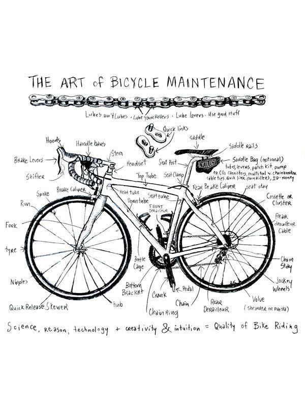 Art Of Bike Maintenance Grey Cycling T Shirts