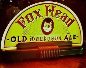 old Waukesha | Details about FOX HEAD OLD WAUKESHA ALE ROG HALO CAB SIGN PRICE BROS ...