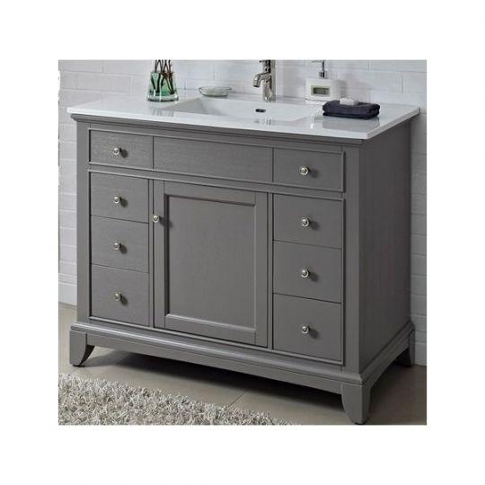 Fairmont Designs 1504 V42 Smithfield Medium Gray Bathroom Vanity 42 X 21 1 2 X 34 1 2 With Images 42 Inch Bathroom Vanity Cheap Bathroom Vanities 42 Inch Vanity