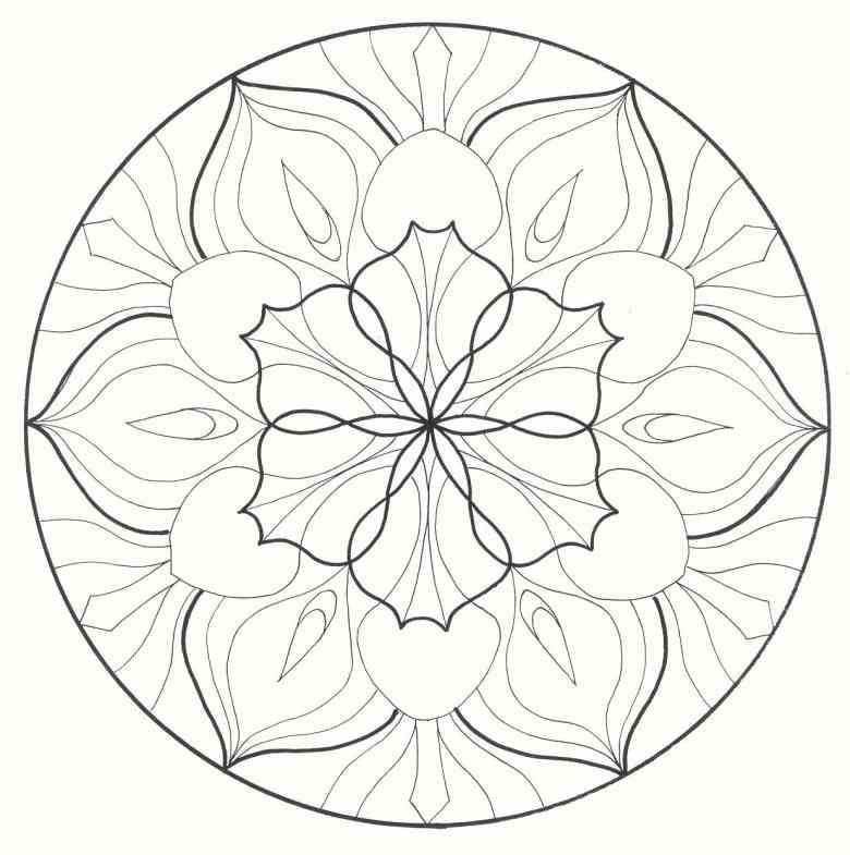Blumen Mandala Zum Ausmalen | Malen | Pinterest | Mandala zum ...