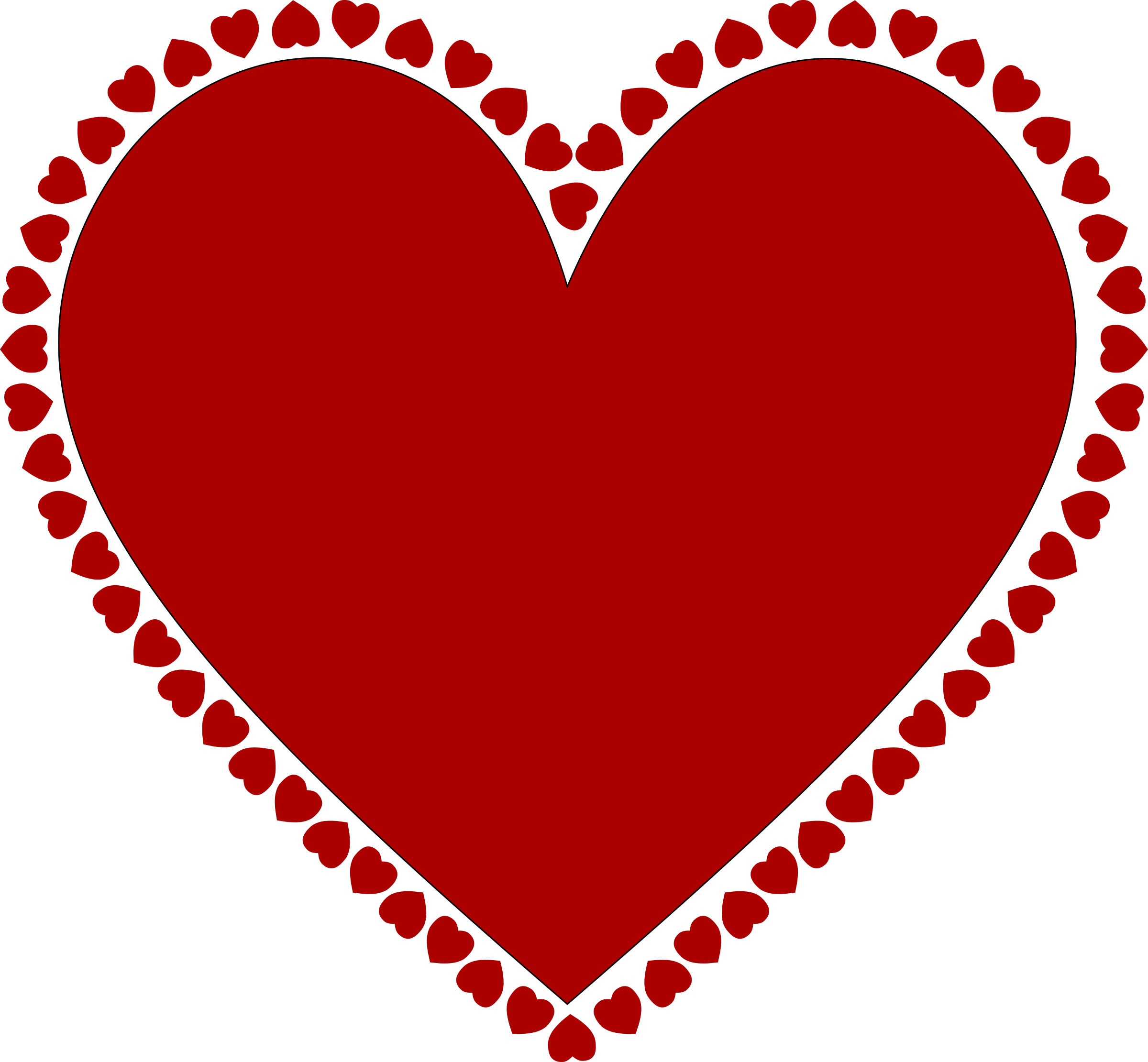 Frame of hearts Frame clipart, Heart