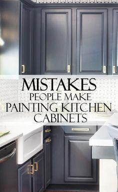 Take a few minutes to learn from others mistakes while painting kitchen cabinets You can DIY your project and make it beautiful
