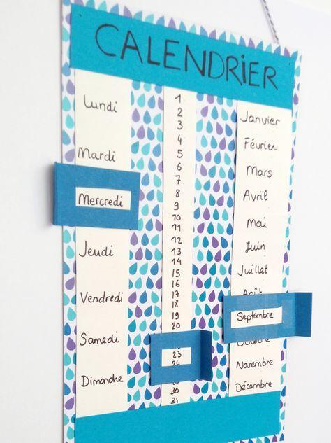 Connu Calendrier perpétuel | Bricolage pour enfant, Calendrier et Fiches TZ98