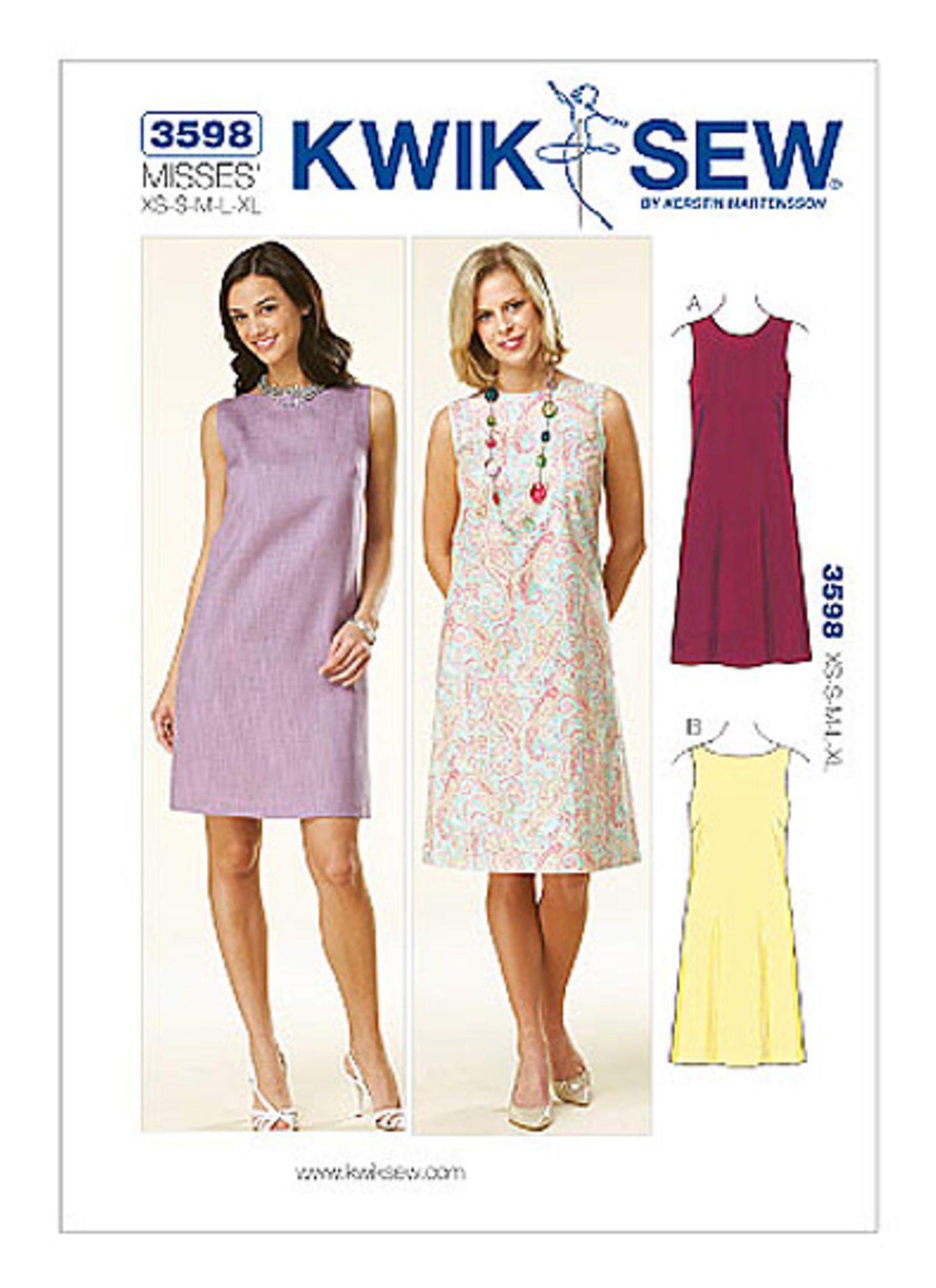 K3598 | Kwik Sew Patterns | dresses | Pinterest