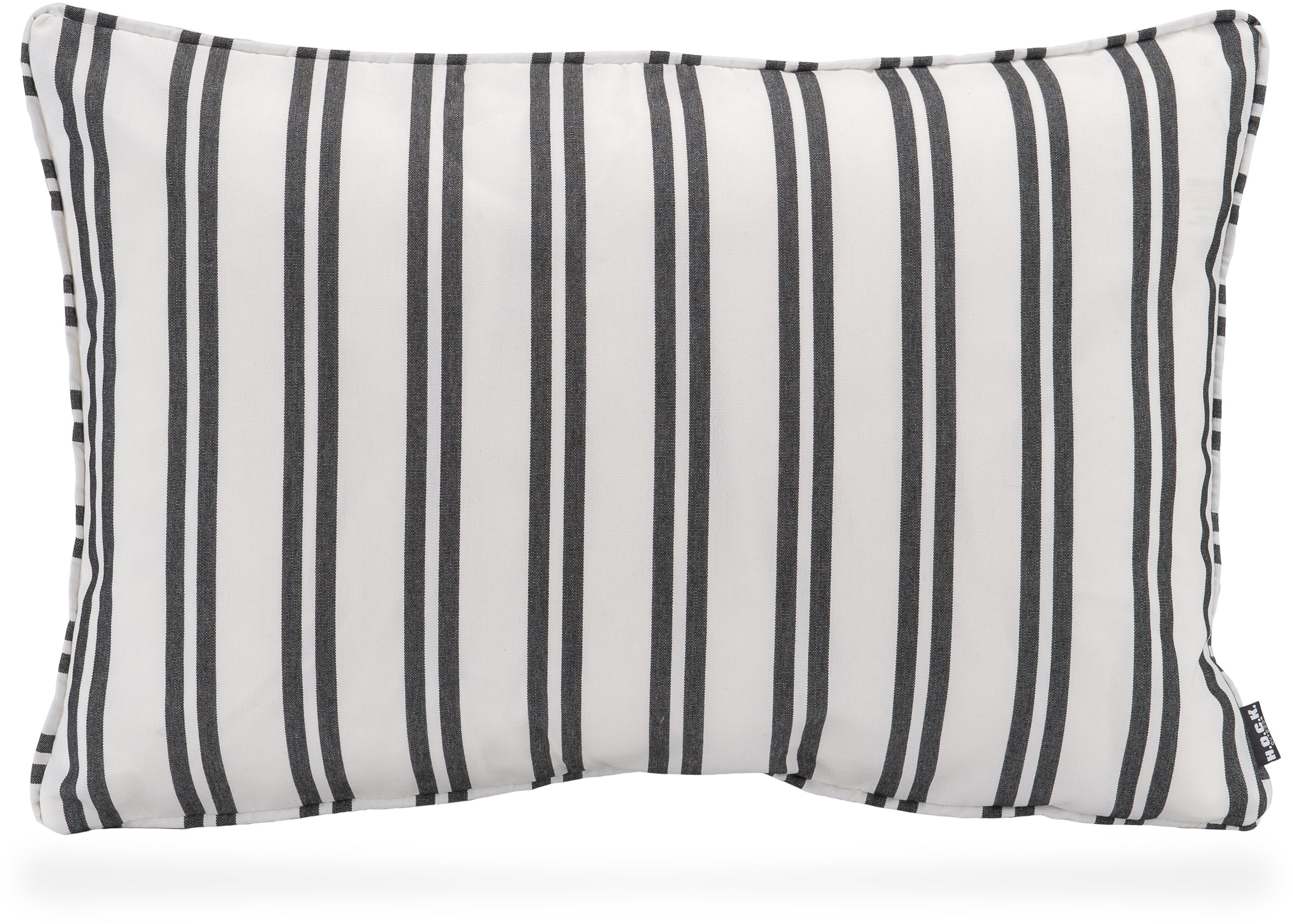 Kissen 60x40 New England Outdoor Kissen 60x40 Whithe Stripes Black White