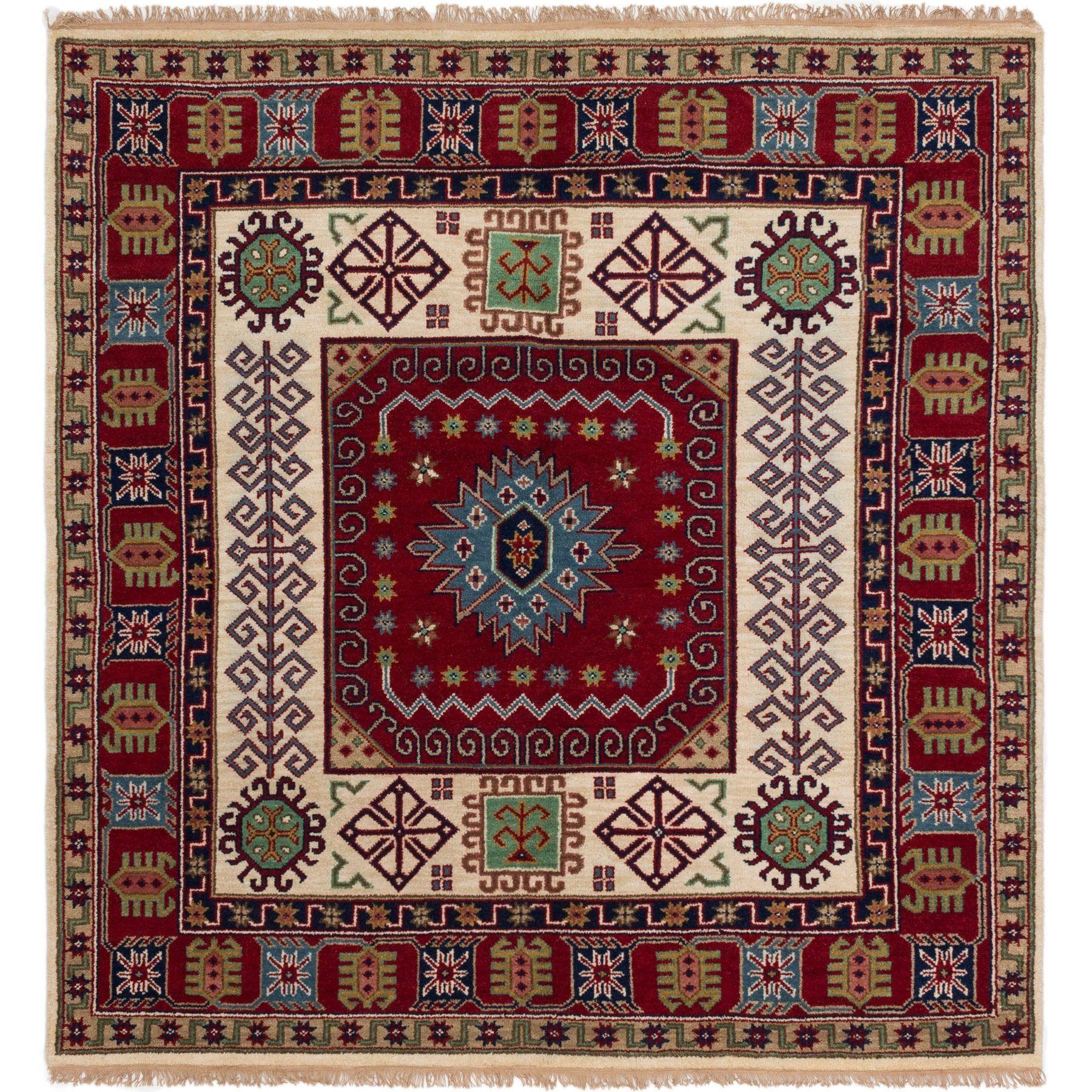 Ecarpetgallery Hand Knotted Royal Kazak Wool Rug