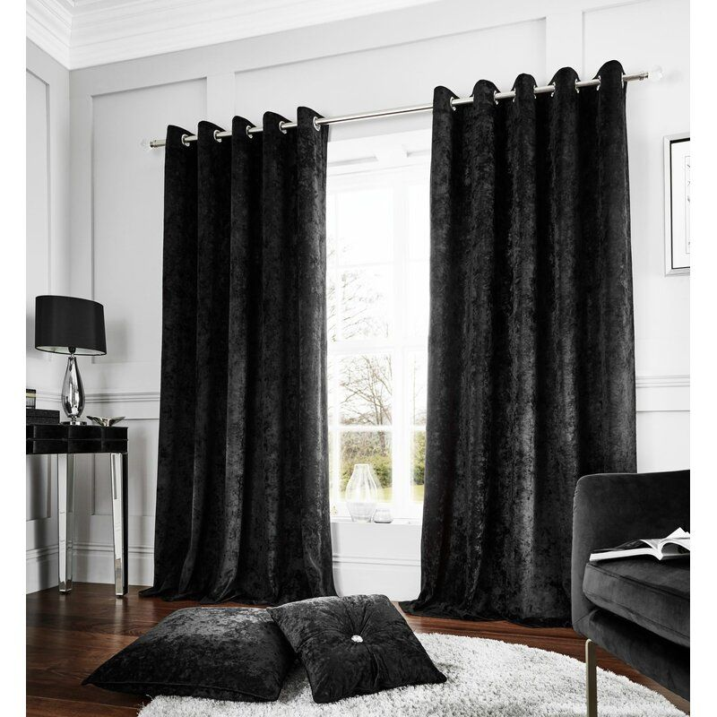 Crushed Eyelet Room Darkening Curtains In 2020 Room Darkening