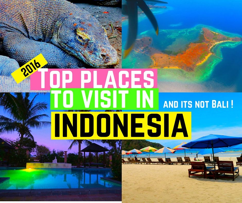 Top places to Visit in Indonesia - not including Bali? Check out the sulphuric craters at Bandung, temples at Yogyakarta, breathtaking beaches at Lombok