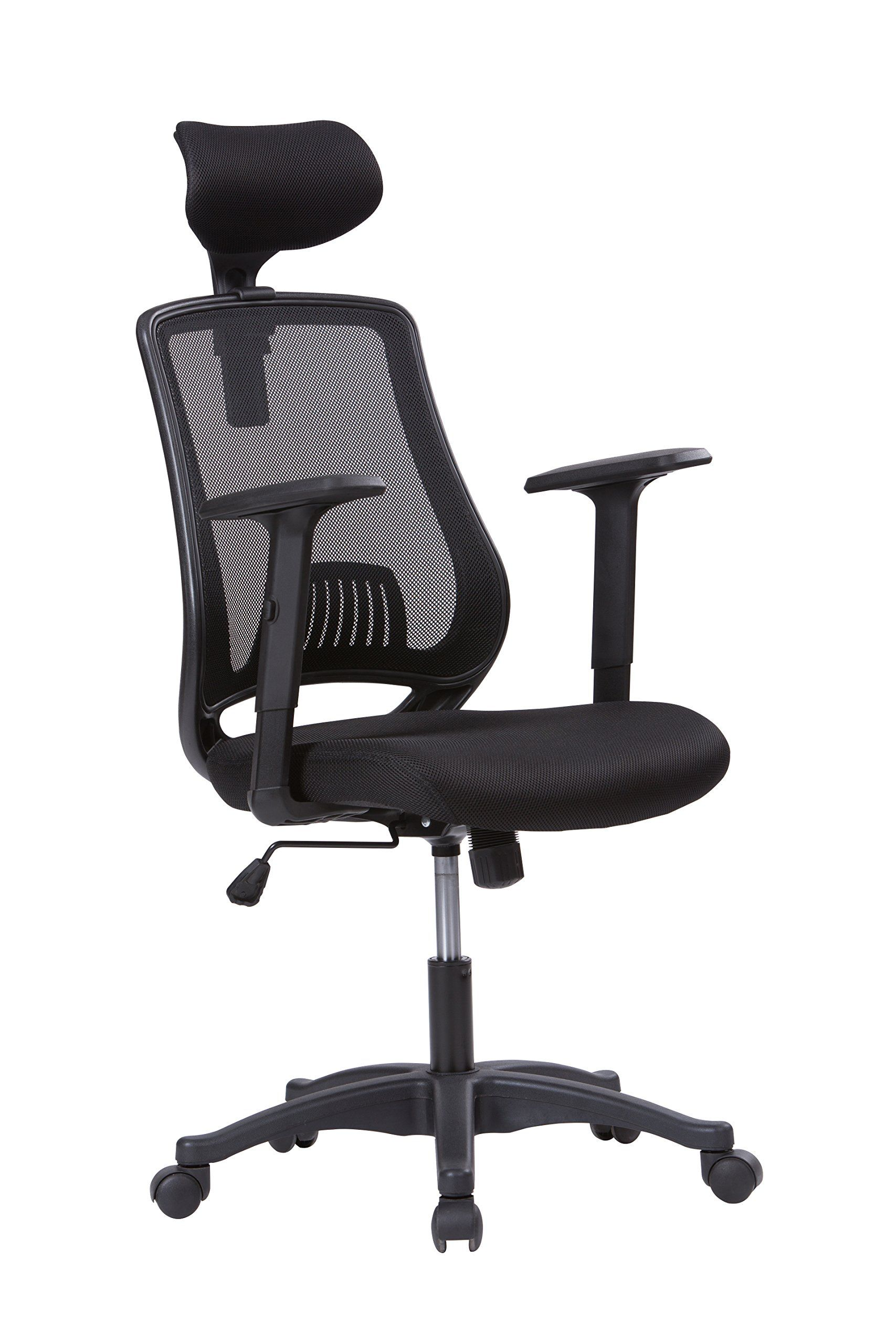 Office Chair With Adjustable Arms Longem High Back Mesh Office Chair Breathable Ergonomic Computer
