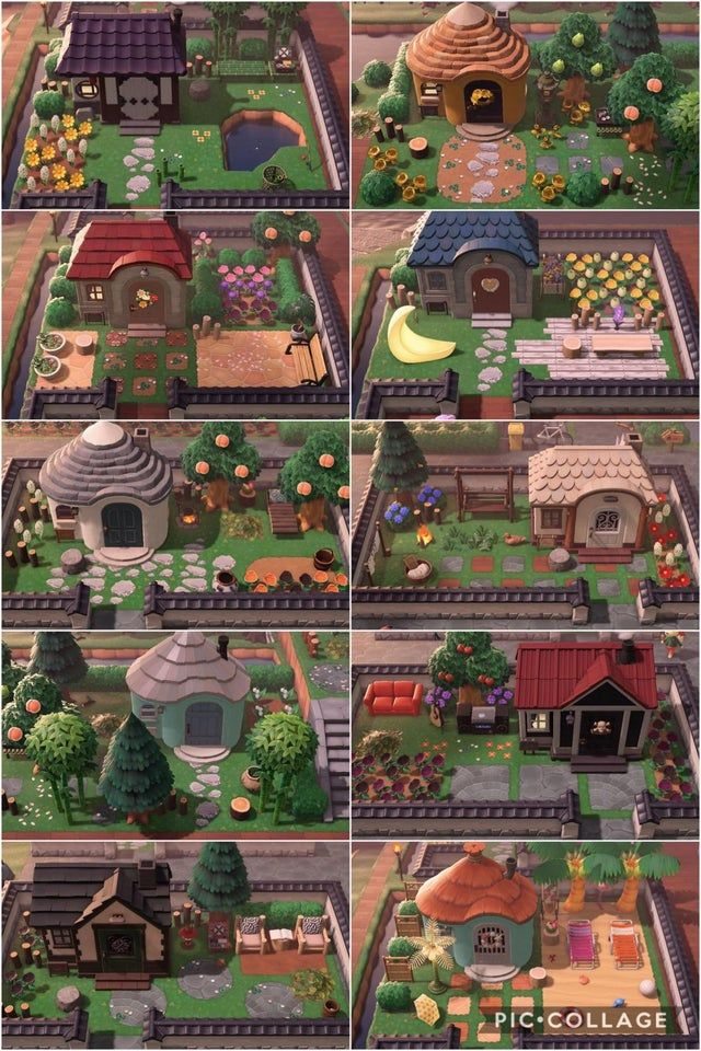 Decided to extend and decorate my villagers' yards