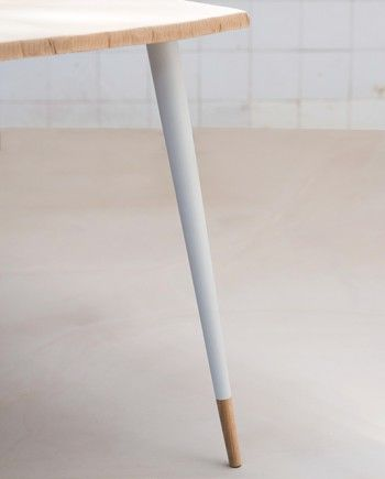 table basse bois pied de table design
