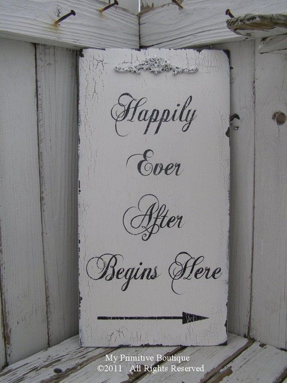 entrance sign // happily forever after theme <3