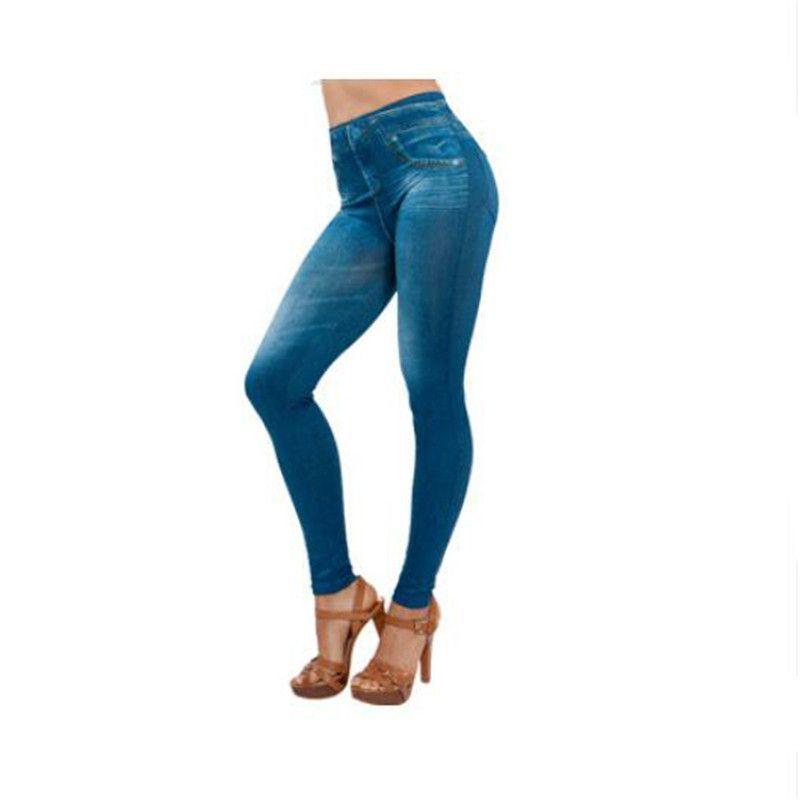 2016 Women fashion cowboy Leggings Jeans Leggins Black Causal Plus Size Jeggings femal Blue gray Slim Pants Hot Trousers