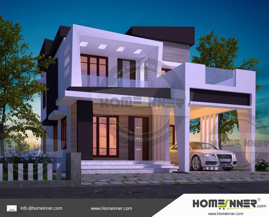 1690 sq ft 3 bedroom house design for middle class family for Design your own house online in india