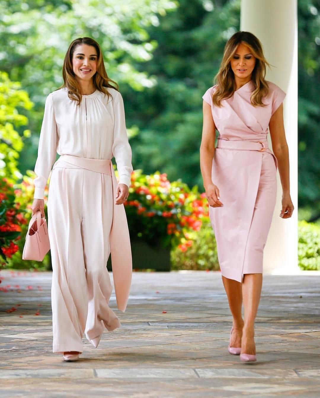 Queen Rania In Palazzo Pants Fashion Dresses Queen Rania