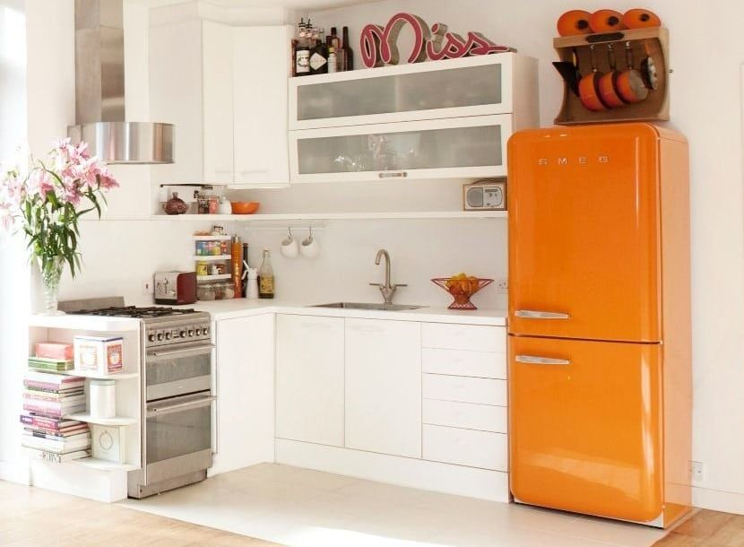 Déco de cuisine orange  Orange is the new blackdans une cuisine