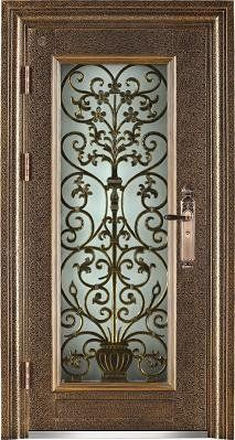 Steel doors wronght iron door with glass front doors pinterest steel doors wronght iron door with glass planetlyrics Image collections