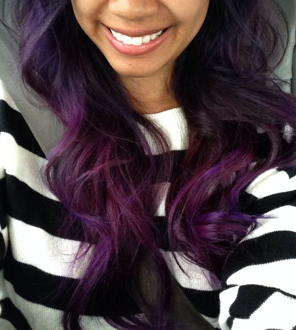 Hair black with colored tips tumblr photo