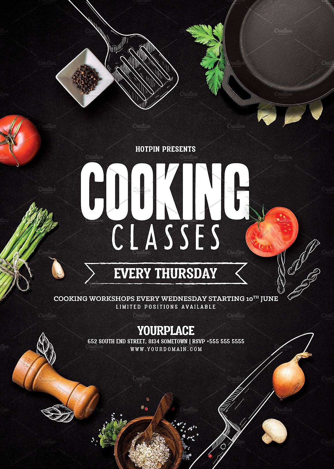 Cooking Lessons Flyer Template Cooking Classes Design Cooking Lessons Cooking Cooking class flyer template free