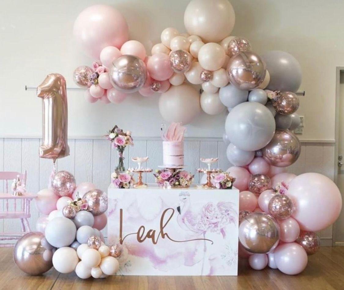 Gorgeous Pink Balloon Garland Decor Inspiration Birthday Decorations Birthday Parties Birthday Party Decorations