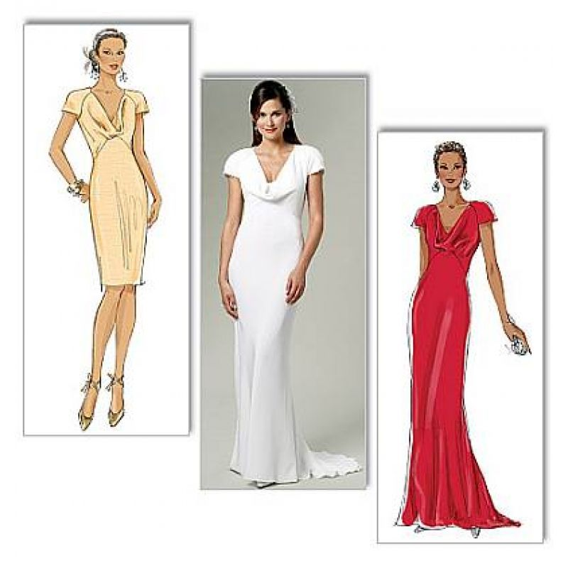 Butterick 5710 Abendkleid, Brautkleid Gr. 32-48 | Schnitte ...