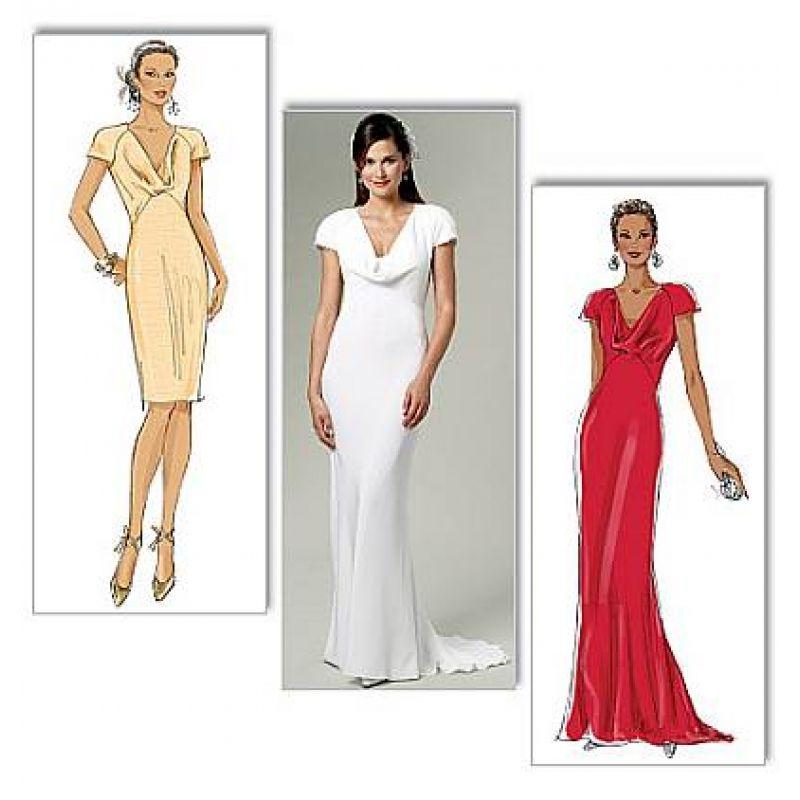 Butterick 5710 Abendkleid, Brautkleid Gr. 32-48 | Pinterest ...