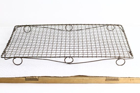 Large Vintage French Wire Cooling Rack Crinkle By Crolandco