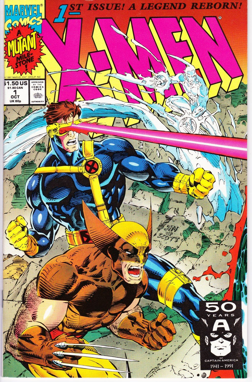 X Men 1 1st Series 1991 October 1991 Marvel Comics Grade Nm Comic Book Heroes Marvel Comics Covers Marvel Comic Books