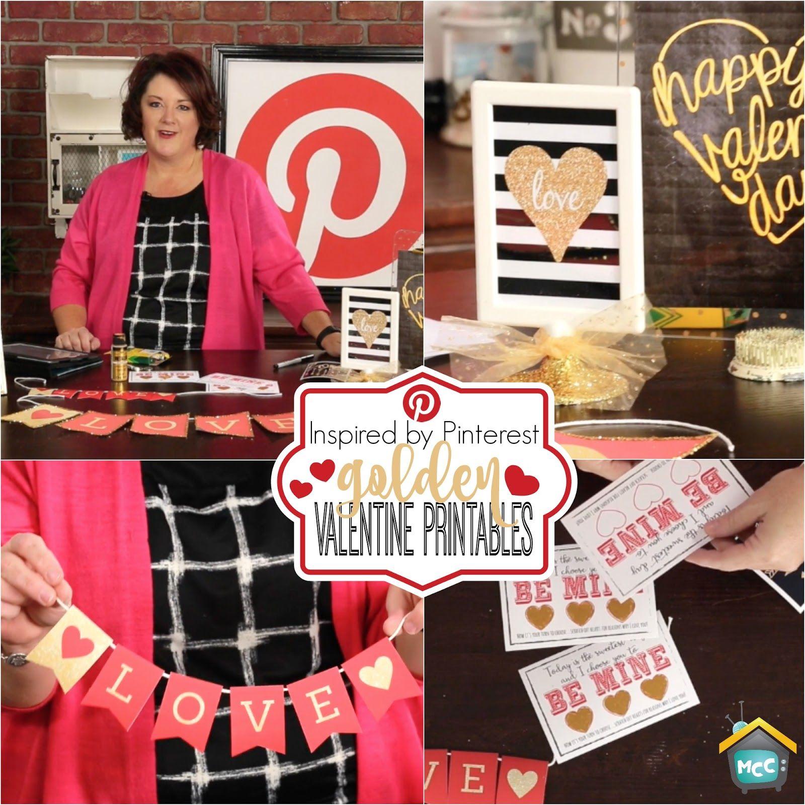 Allred Design Blog: Inspired by Pinterest: Golden Valentine Printables + Free Download