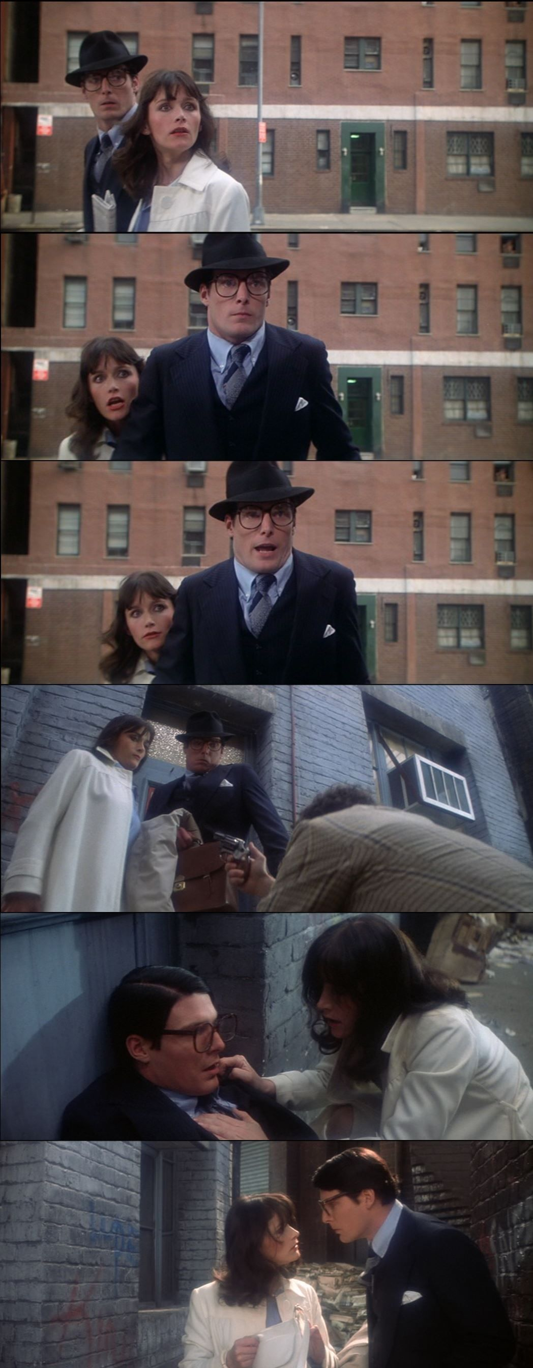 Clark and Lois's first adventure together in Superman: The Movie 1978