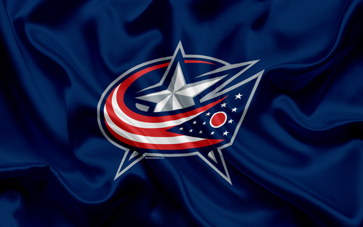 Download wallpapers Columbus Blue Jackets, hockey club, NHL, emblem, logo, National Hockey League, hockey, Columbus, Ohio, USA