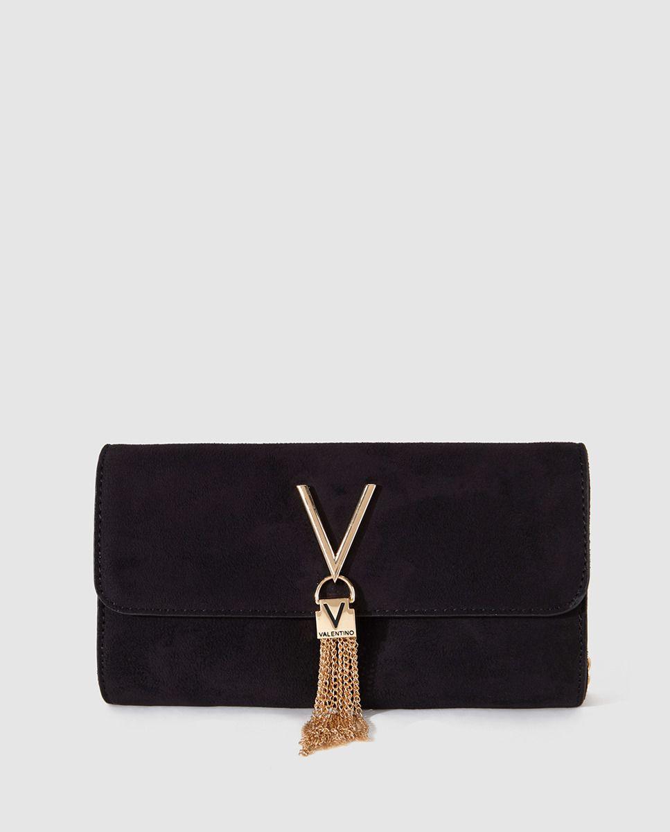 559a1242100 Bolso de mano negro con cadena dorada   Valentino